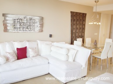 Living Room of Penthouse in Central Location in Punta del Este