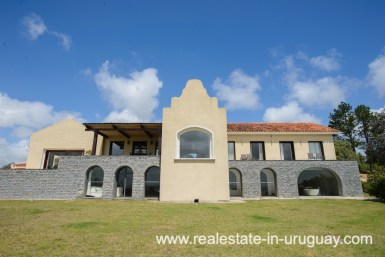 Mainbuilding of Large House with Views to Laguna del Sauce by Punta del Este