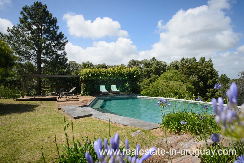 Swimmin Pool of Large House with Views to Laguna del Sauce by Punta del Este