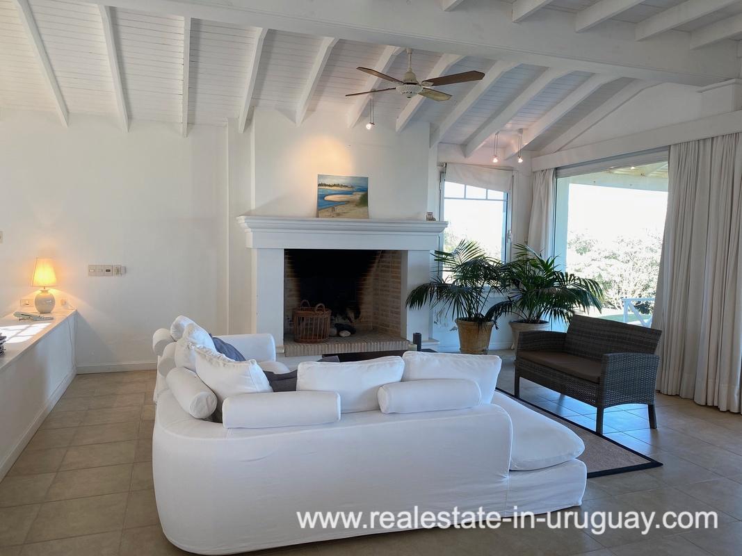 Living Room of Large Oceanfront Villa in Punta Ballena