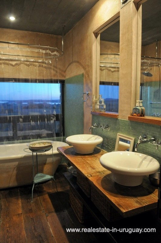 Bathroom of Spectacular Farm situated on a Hill by Laguna del Sauce