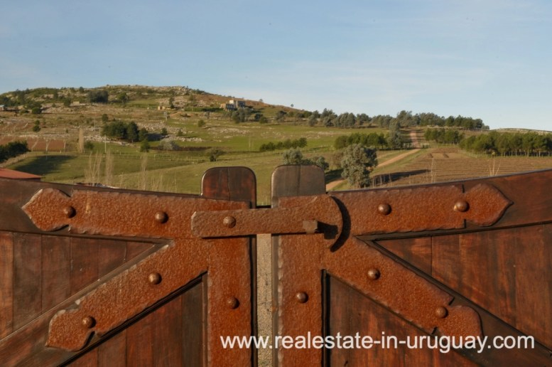 Gate of Spectacular Farm situated on a Hill by Laguna del Sauce