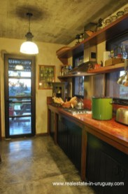 Kitchen of Spectacular Farm situated on a Hill by Laguna del Sauce