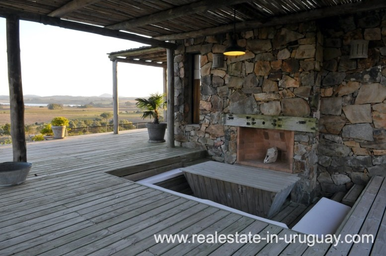 Terrace Area of Spectacular Farm situated on a Hill by Laguna del Sauce