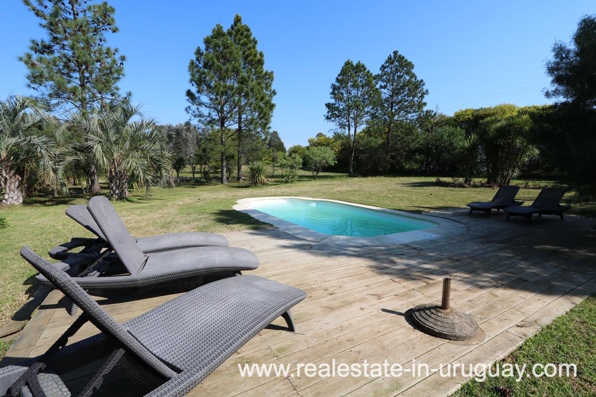 Pool of Countryside Property between Jose Ignacio and Garzon