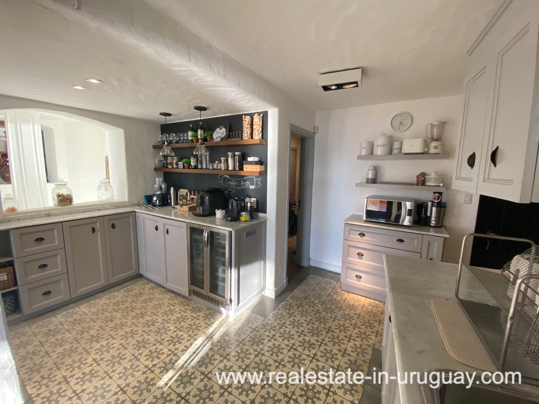 Kitchen of Spectacular Remodeled House in Punta Ballena