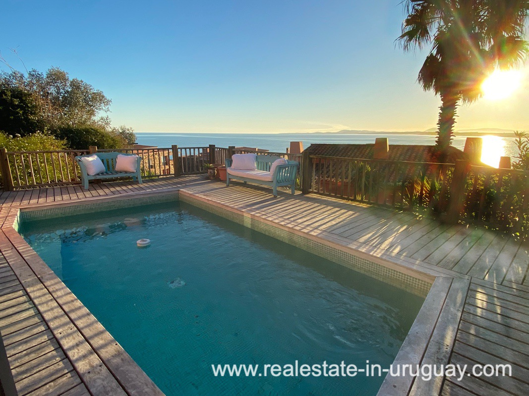 Pool and View of Spectacular Remodeled House in Punta Ballena