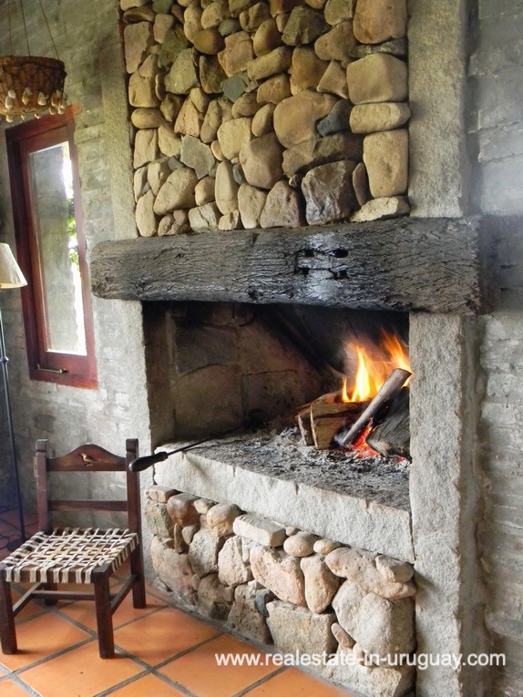 Fire Place of Farm with 95 Hectares just 15 Minutes from Jose Ignacio