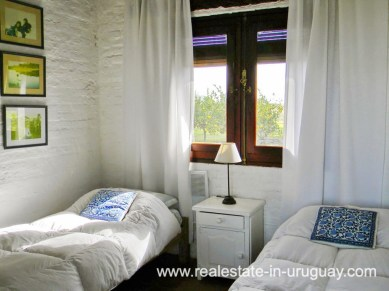 Guest Bedroom of Farm with 95 Hectares just 15 Minutes from Jose Ignacio