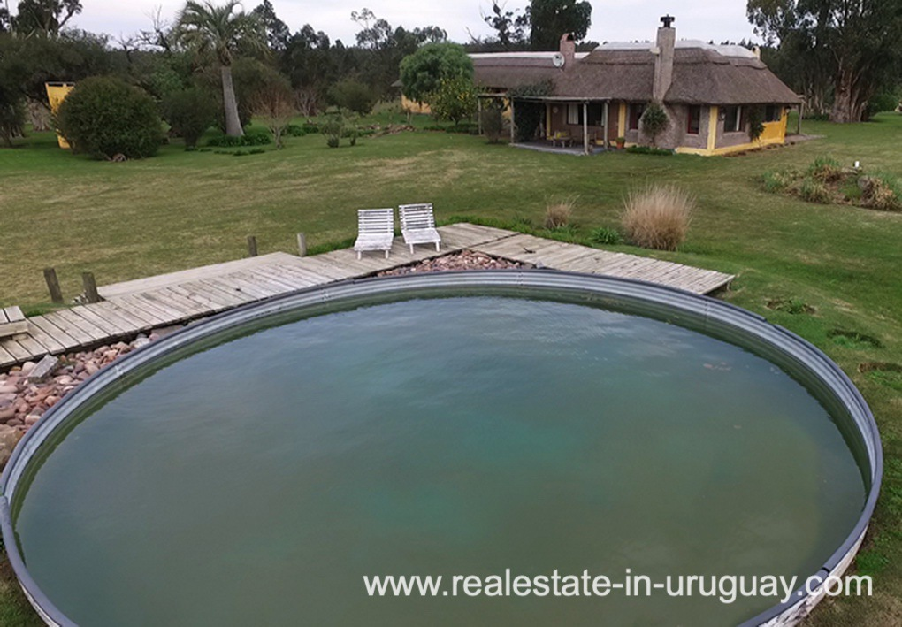 Pool of Farm with 95 Hectares just 15 Minutes from Jose Ignacio