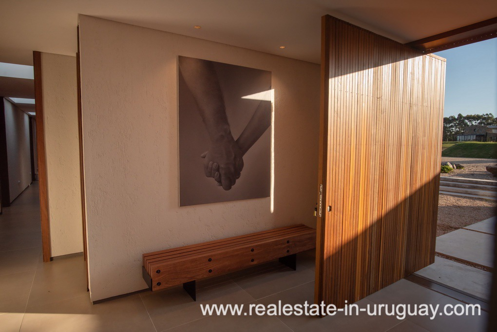 Entry of Modern and Style combined with Country Views in Pueblo Mio by Manantiales