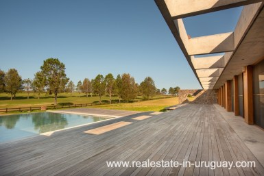Pool and Deck of Modern and Style combined with Country Views in Pueblo Mio by Manantiales