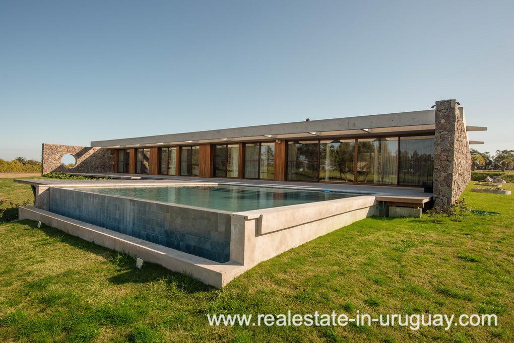 Pool of Modern and Style combined with Country Views in Pueblo Mio by Manantiales