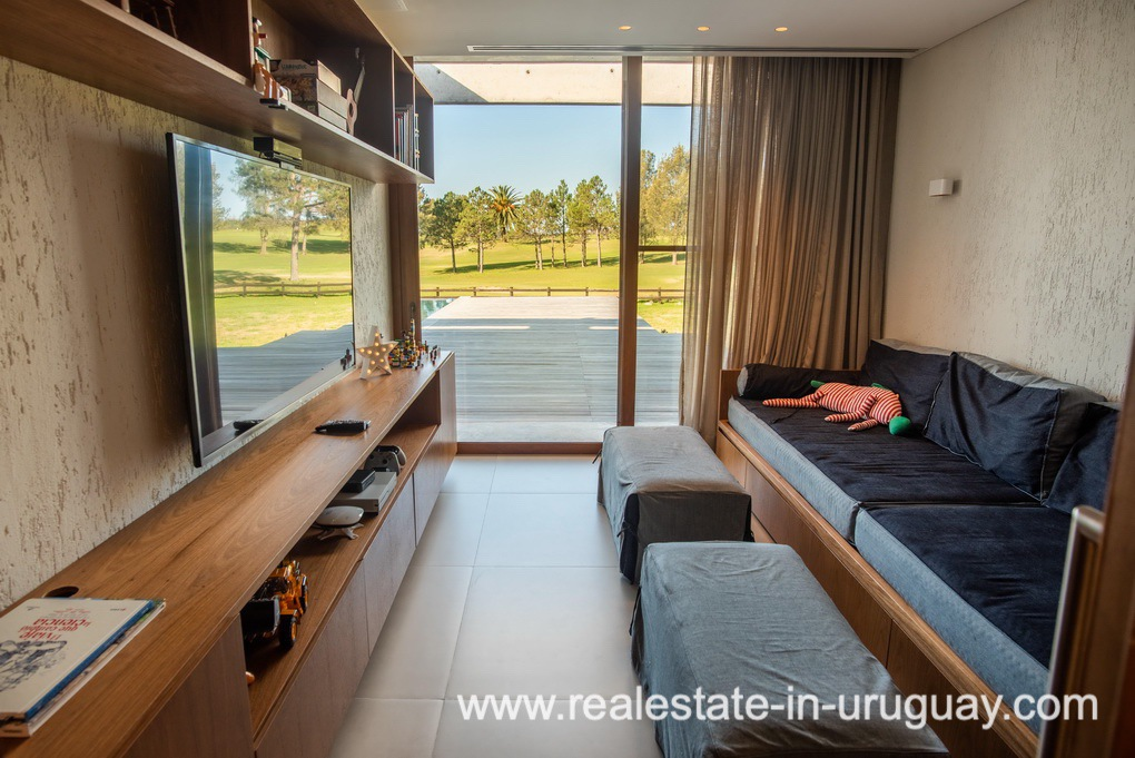 TV Room of Modern and Style combined with Country Views in Pueblo Mio by Manantiales