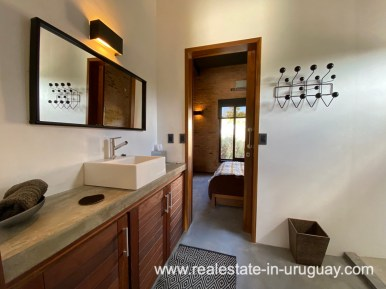Guest Bathroom of Design Home in San Antonio near La Pedrera on the Beach