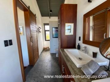 Master bathroom of Design Home in San Antonio near La Pedrera on the Beach