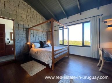Master bed of Design Home in San Antonio near La Pedrera on the Beach