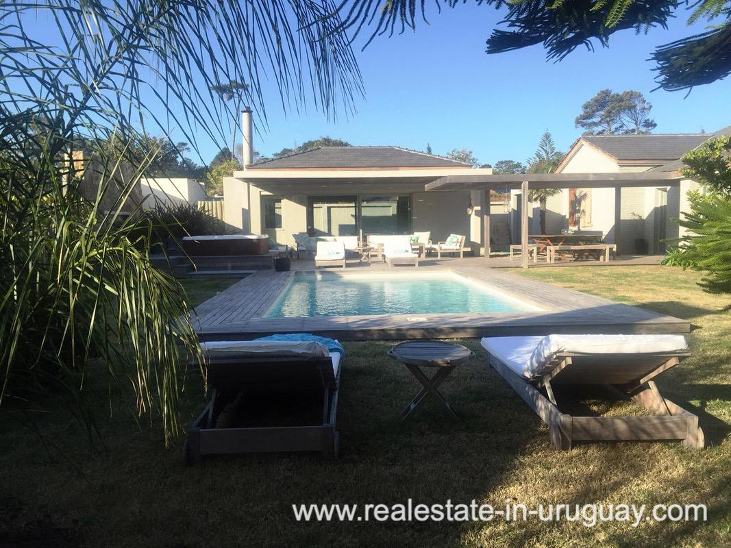 Pool and Garden of Home on the Mansa in Punta del Este