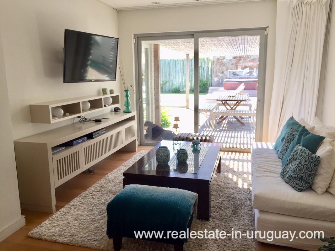 TV Room of Home on the Mansa in Punta del Este