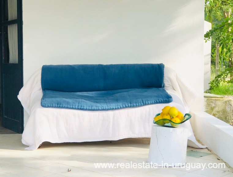 Exterior sofa of Cute House in Trendy Gourmet Town Garzon