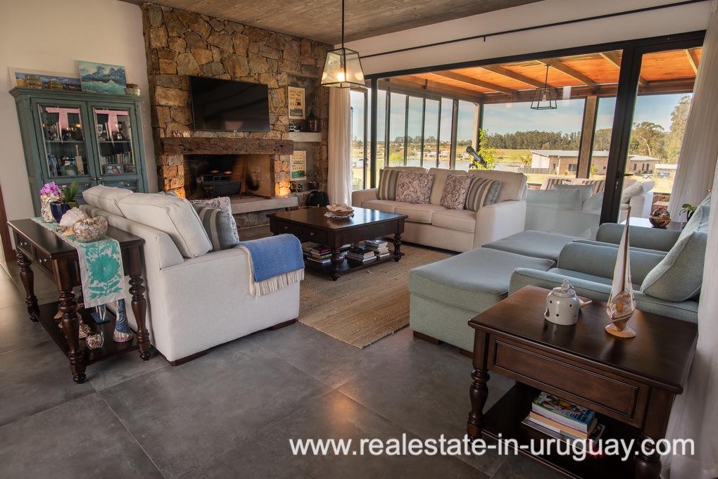 Living Room of Pueblo Mio by La Barra Golf