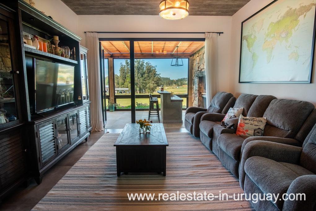 TV room of Pueblo Mio by La Barra Golf