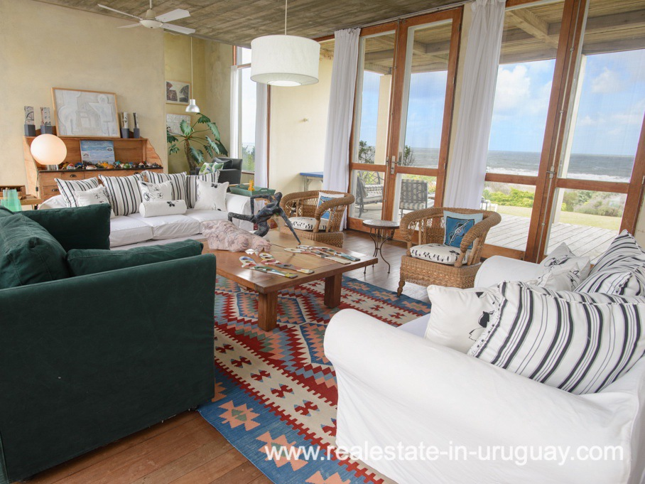 Living Area of Beach Property in La Carolina