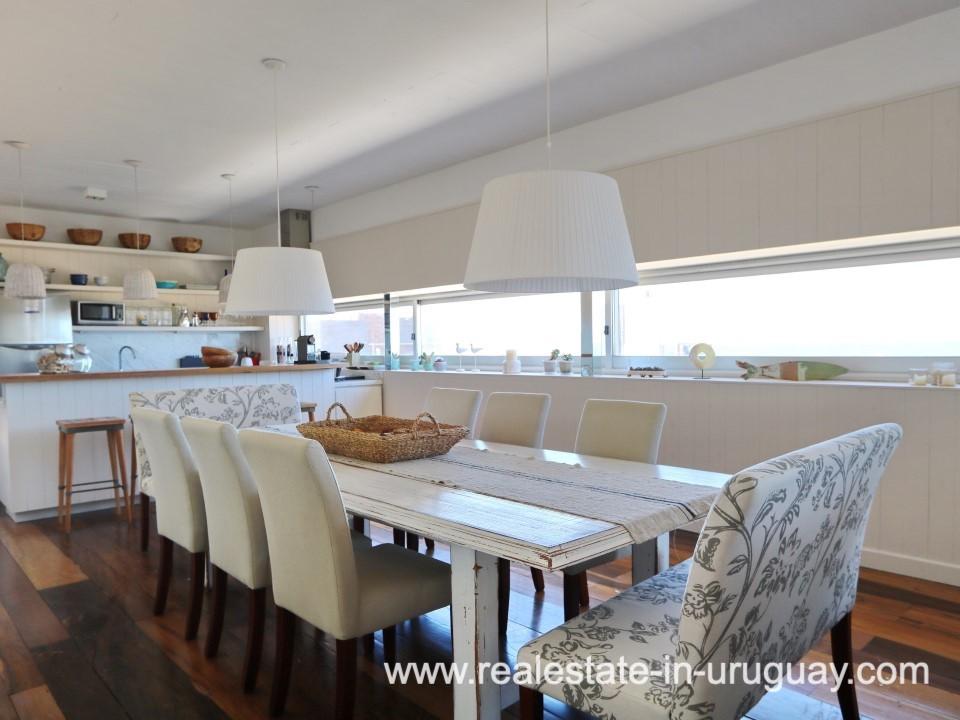 Dining Room of Beach Home in Santa Monica
