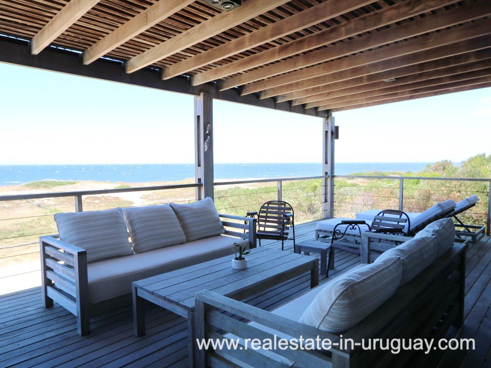 Outdoor Sitting Area of Beach Home in Santa Monica