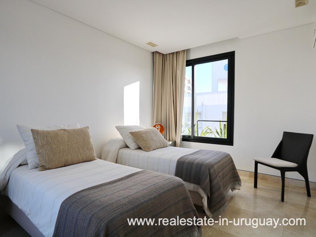 Guest Bedroom of Penthouse by the Punta del Este Harbor