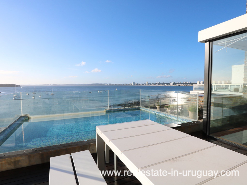 Pool Area of Penthouse by the Punta del Este Harbor
