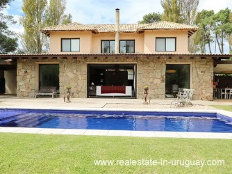 Pool of Family Home in the Gated Community La Arbolada in Punta del Este