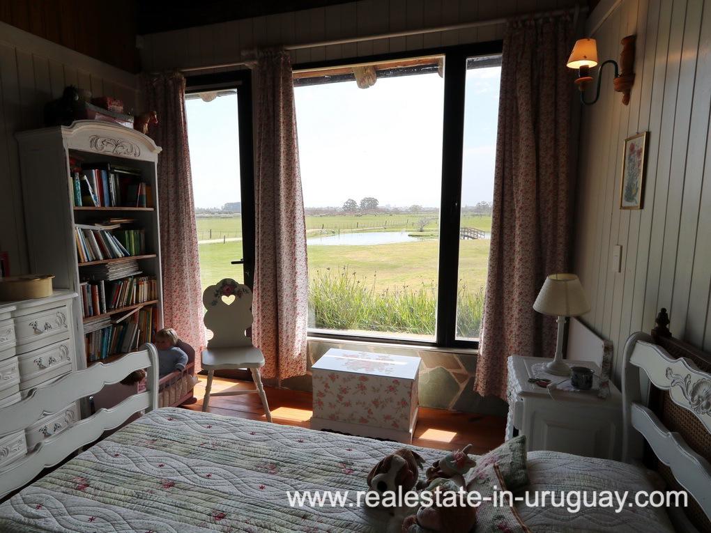 Guest Bedroom 2 of Farm House in El Quijote near Fasano and La Barra