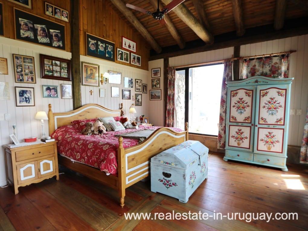 Master Bedroom of Farm House in El Quijote near Fasano and La Barra