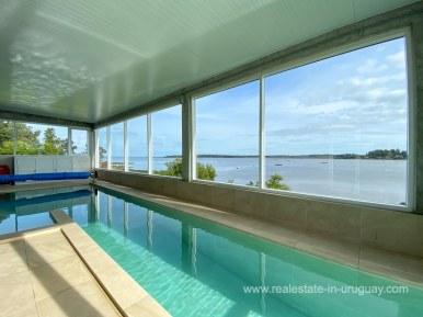 6854 Modern House on Laguna del Sauce - Pool Indoor