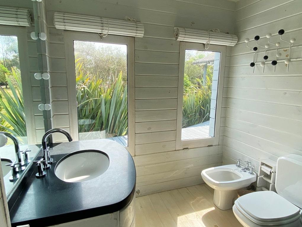 Bathroom of Mario Connio House on the Lagoon near Jose Ignacio
