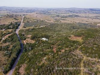 Aerial View of Modern Farm House near Pueblo Eden
