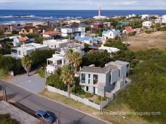 Aerial of Beach House near La Huella in Jose Ignacio