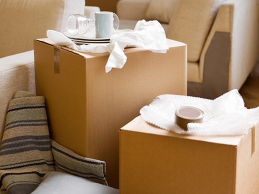 Pack away rarely-used items ahead of moving day.