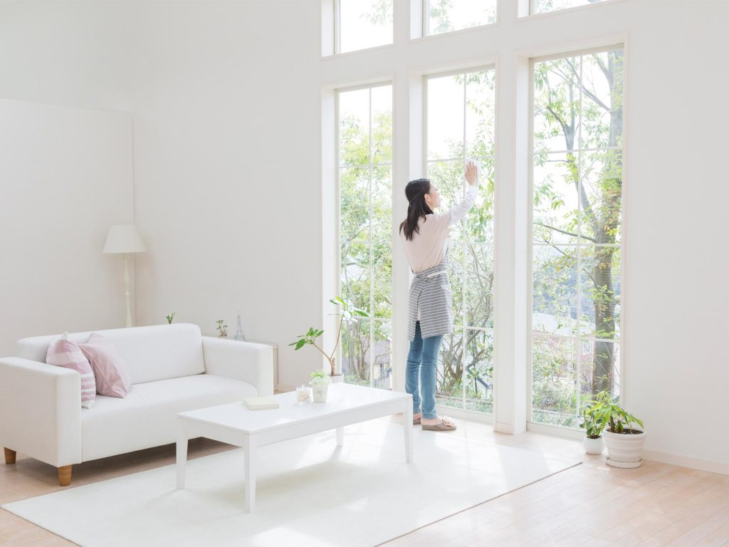 clean living room good neutral colors for how to windows 5 easy steps with tips realestate com au woman cleaning
