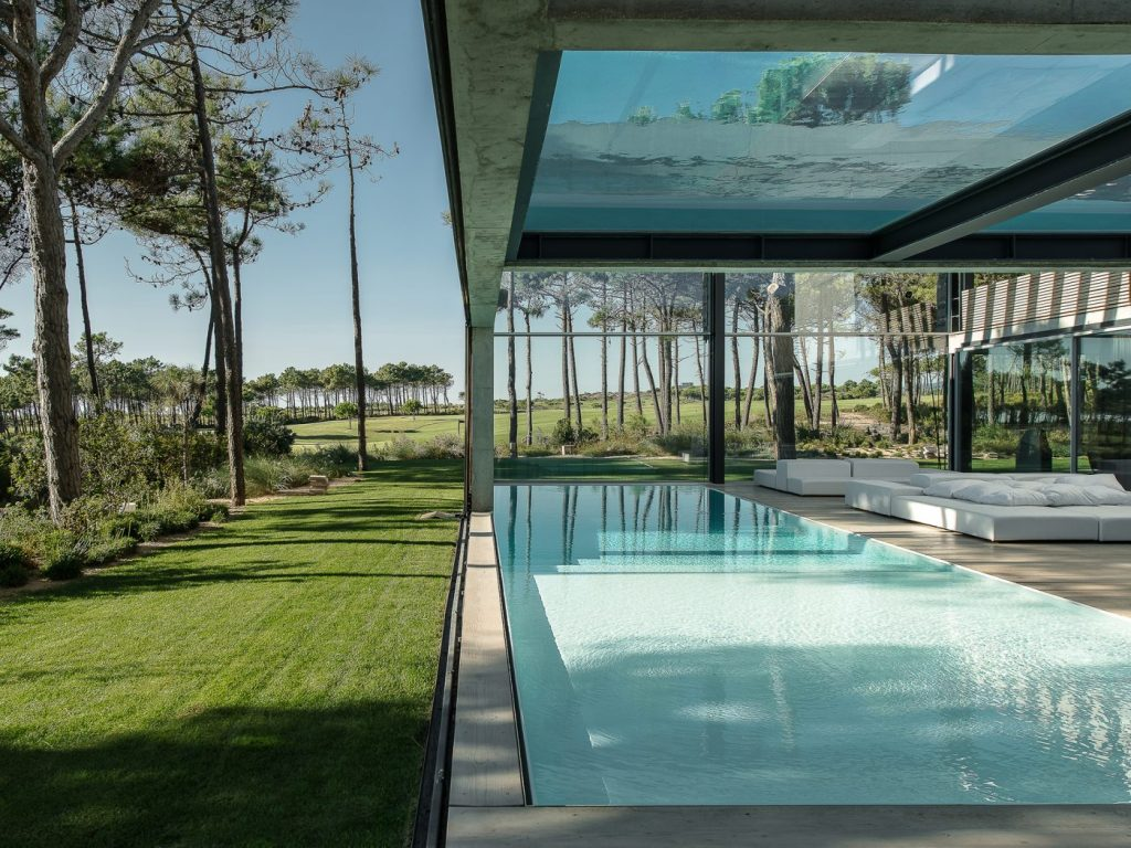 Pool above house