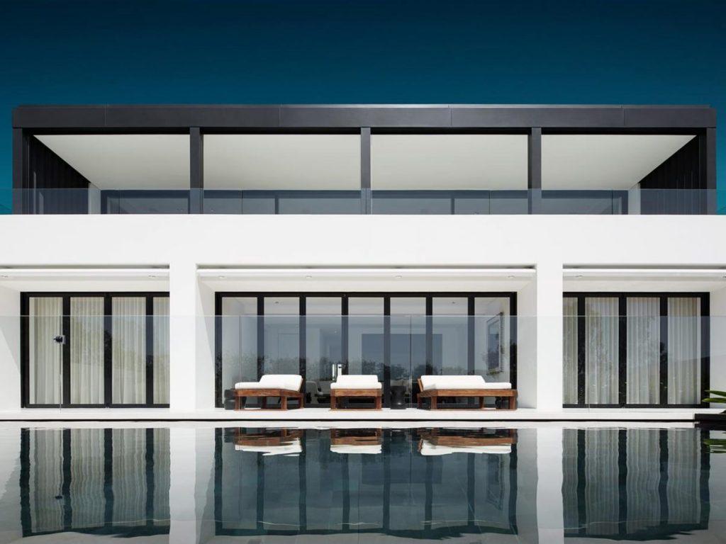 Black interior pool