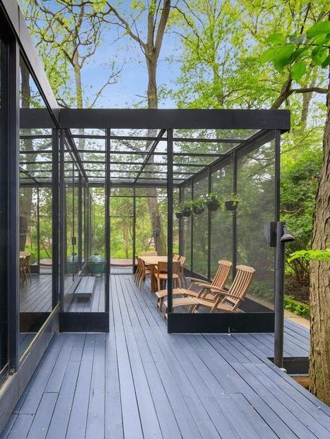 magical modernist glass house