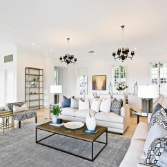 Interior Decorating Ideas For Living Room Narrow Layout Design Home House Designs Photos Neutral Hamptons Style Theme