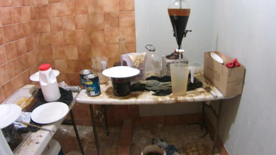 Operation Gloss drug lab uncovered in connection w