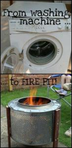 washing machine to fire pit