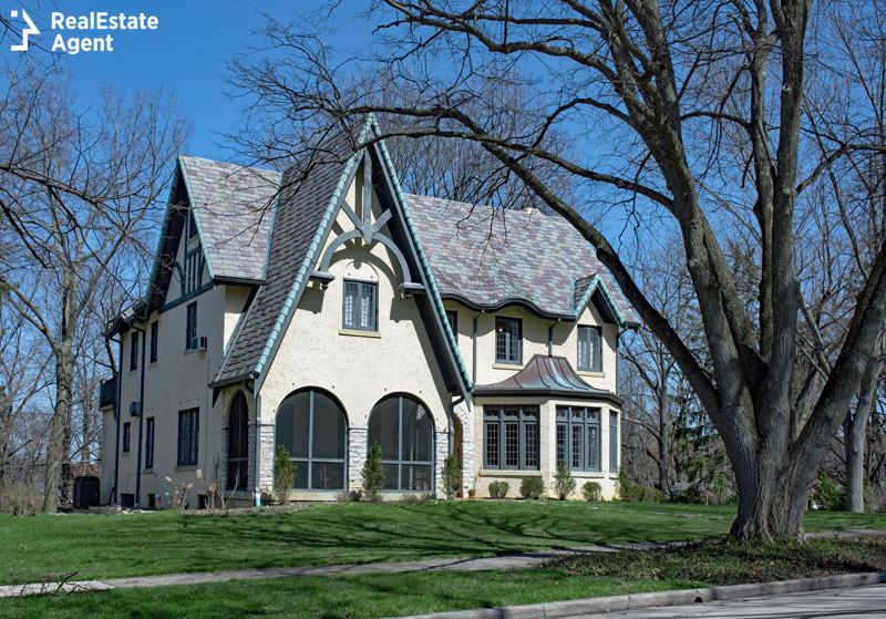Traditional Gothic style house in North America