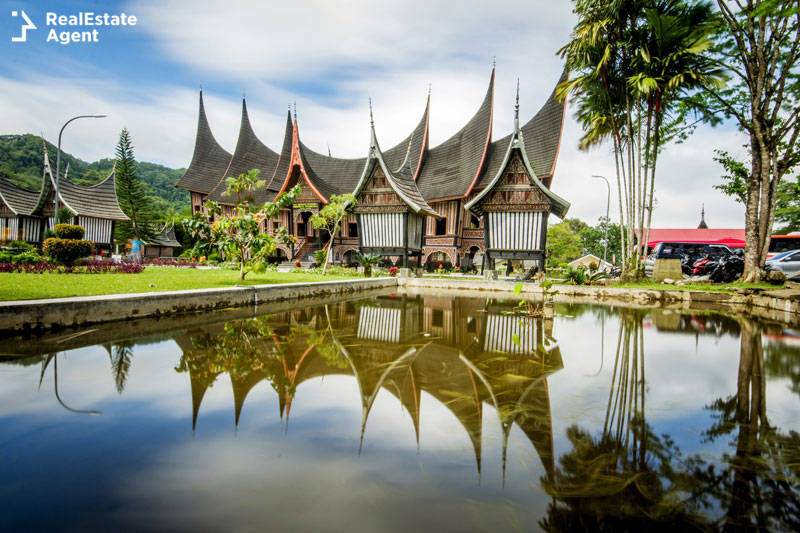 Rumah Gadang traditional house in Indonesia