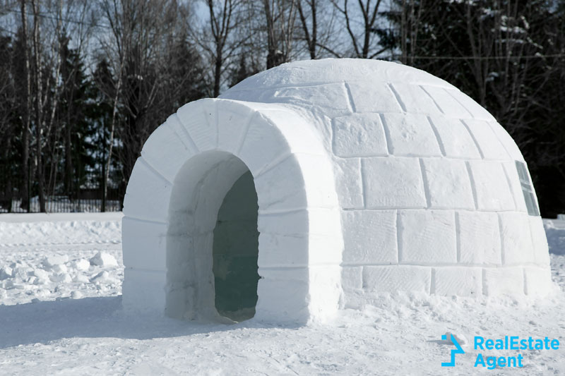 Igloo traditional house of Inuits