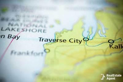 Traverse City on a map